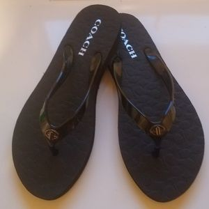 Coach Shoes - Nwt Coach Abigail Flip Flop Sandals